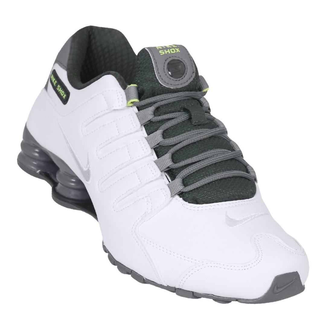 87e1307c95 Tênis Masculino Nike Shox NZ SE 833579-101 - Branco Verde Cinza ...
