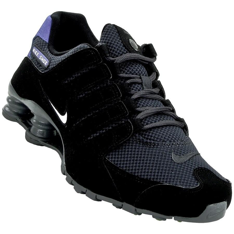best website 48074 cc662 Tênis Masculino Nike Shox NZ SE 833579-007 PretoAzul