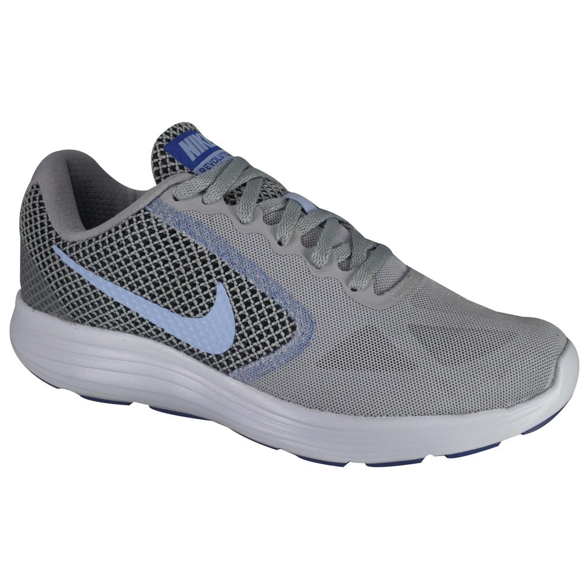 Tênis Nike Revolution 3 Feminino Feminino Feminino 819303 014 Cinza/Roxo Calçados 7e03a5