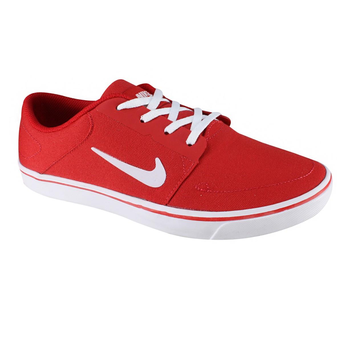 1e9d9d7ff5474 Tênis Nike SB Portmore CNVS 723874-612 - Vermelho Branco - Calçados ...
