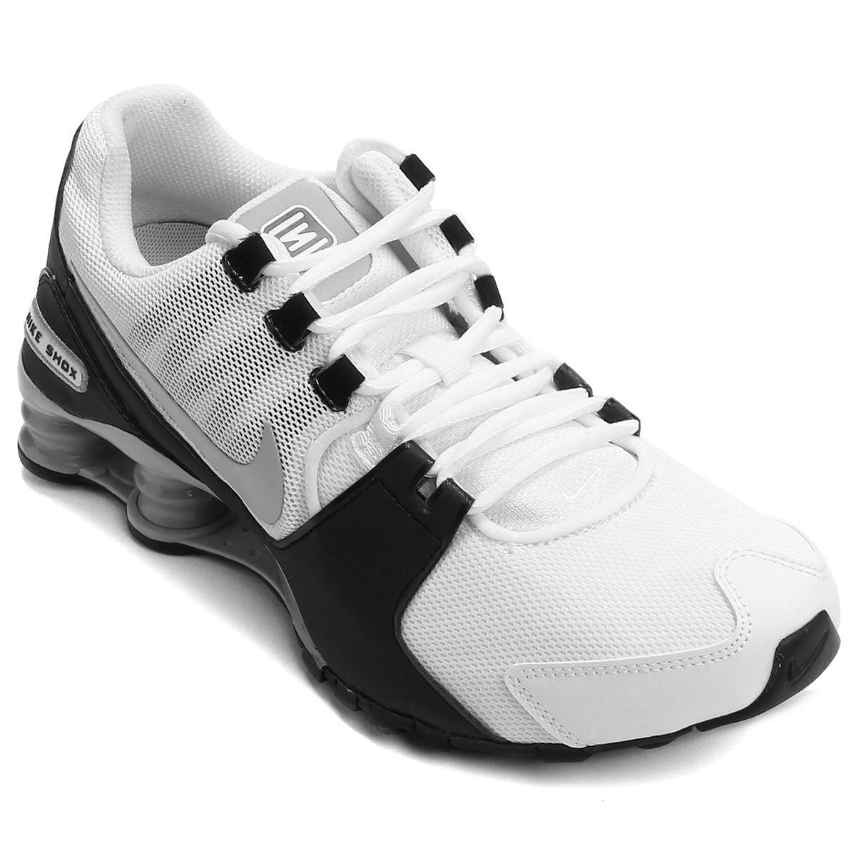1c734385a7b Tênis Nike Shox Avenue 833583-100 - Branco Preto Cinza - Calçados ...