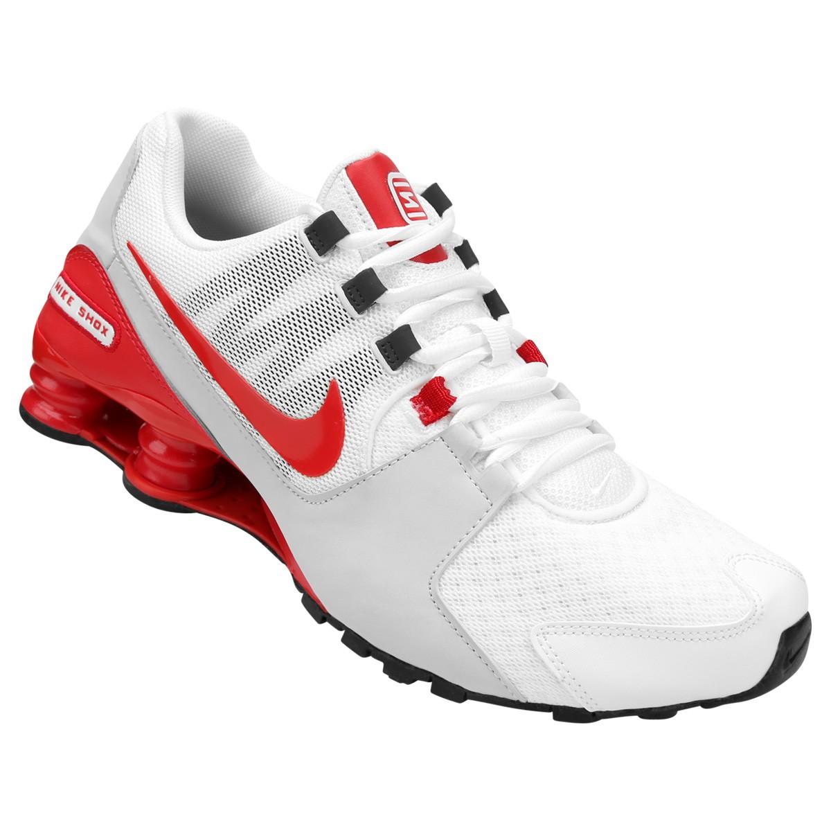 Tênis Nike Shox Avenue 833583-106 - Branco Vermelho - Calçados ... c7e7c62a4b99