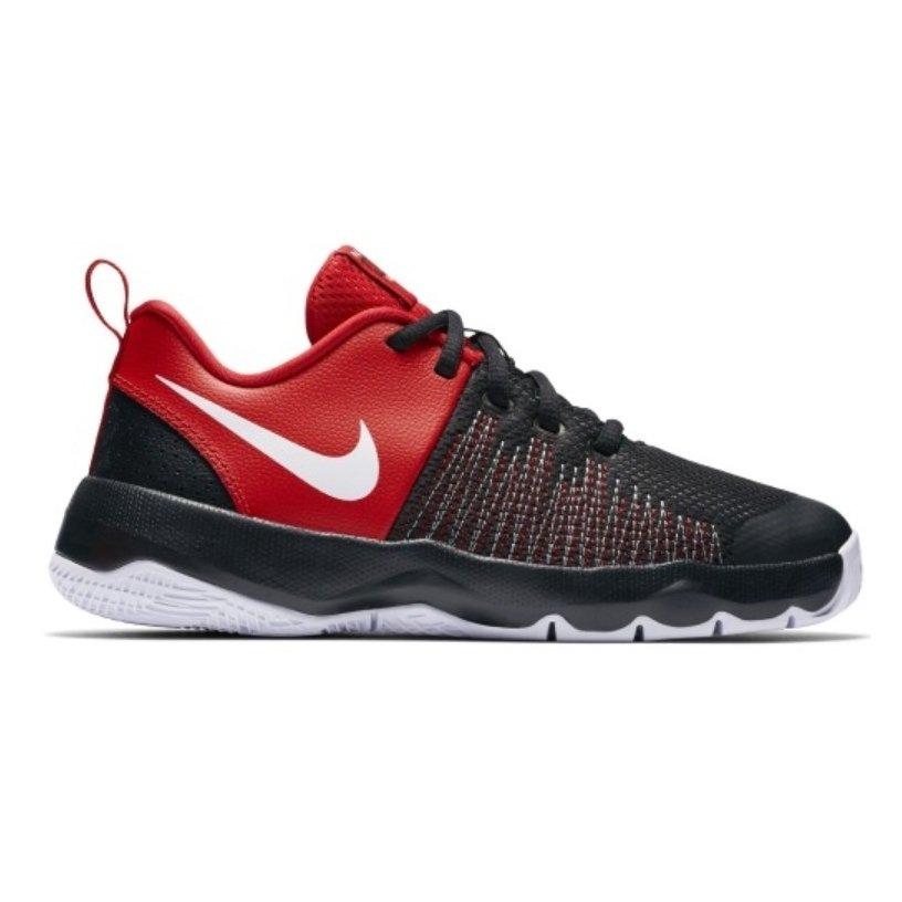 10c90329e59 Tênis Nike Team Hustle Quick Infantil 922680-002 - Preto Vermelho ...