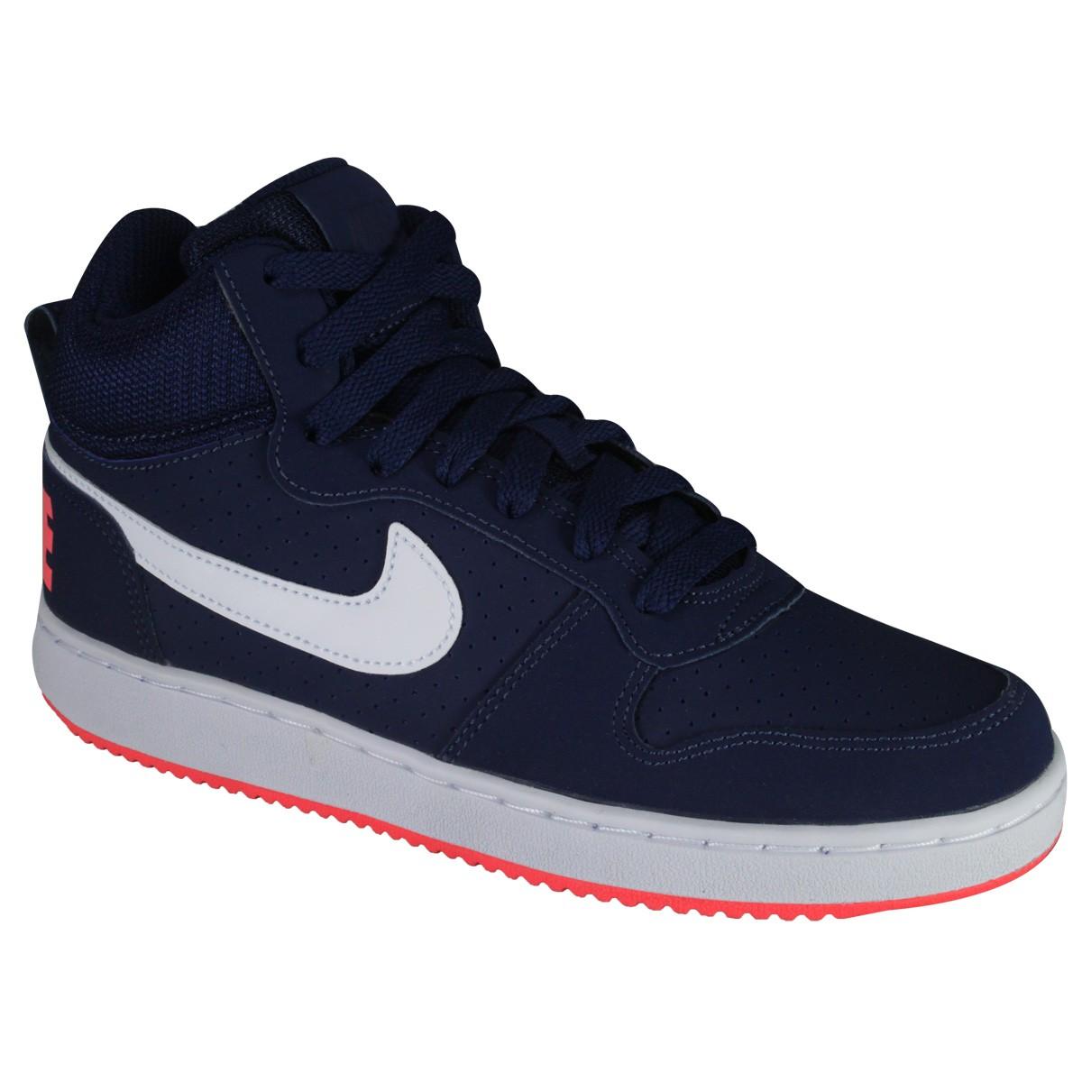 02a84f5098ddc Tênis Nike WMNS Court Borough Mid 844906-401 Marinho Rosa