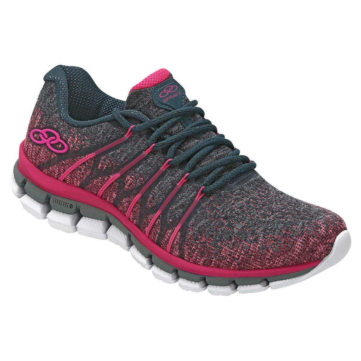c9234e98d56 Tênis Olympikus Diffuse 2 Feminino 463 - Pink Petroleo - Calçados ...
