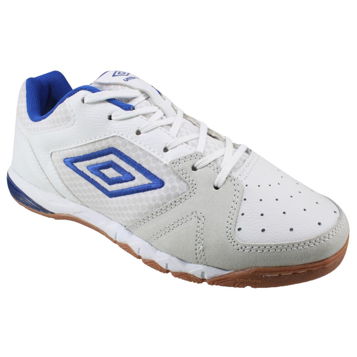 c9688f25df Indoor Umbro ID PRO III OF72056-232 - Branco Azul - Calçados Online ...