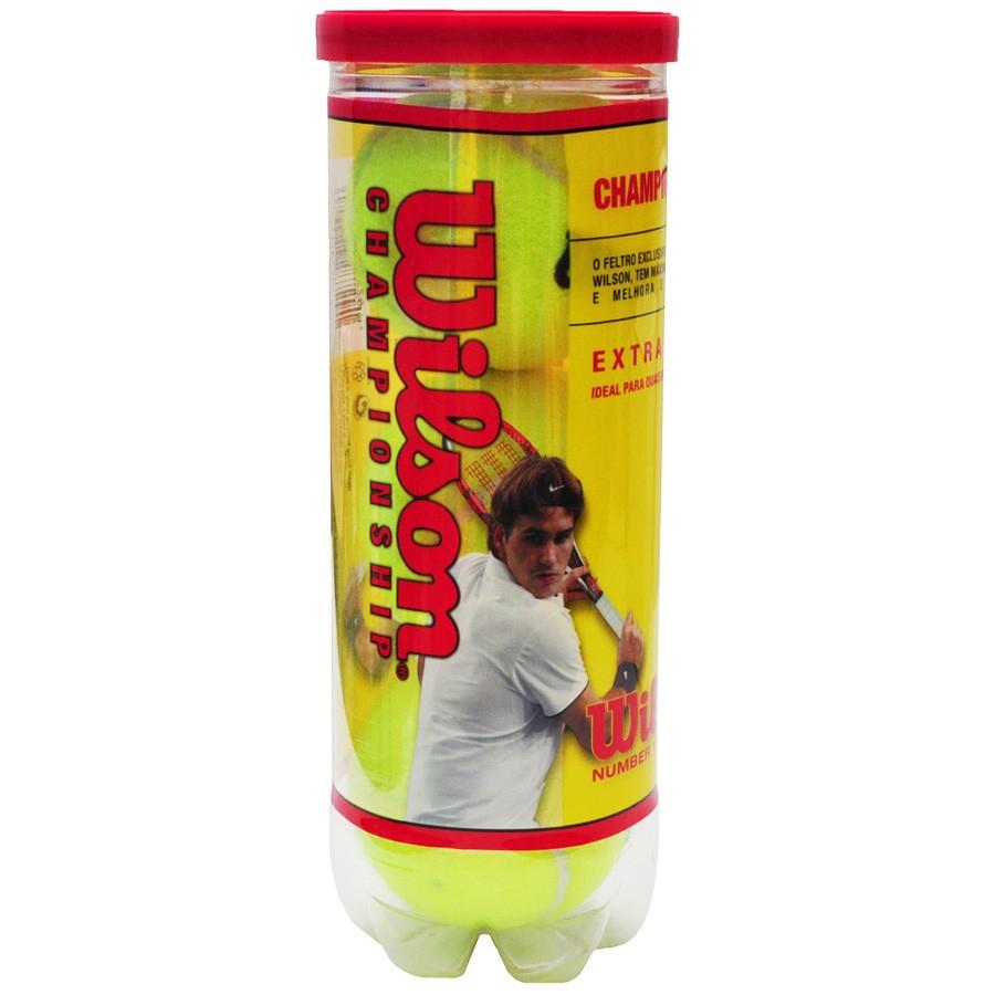 f829e0af6 Terno Bolas De Tênis Wilson Kit C  3 Bolas T1001 - Amarelo ...